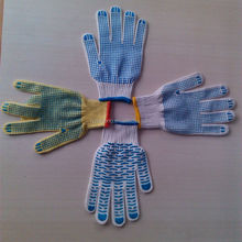pvc dotted working glove/color change gloves