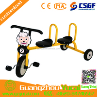 professional supplier cheap cargo tricycle bike 2 seats toys kids car