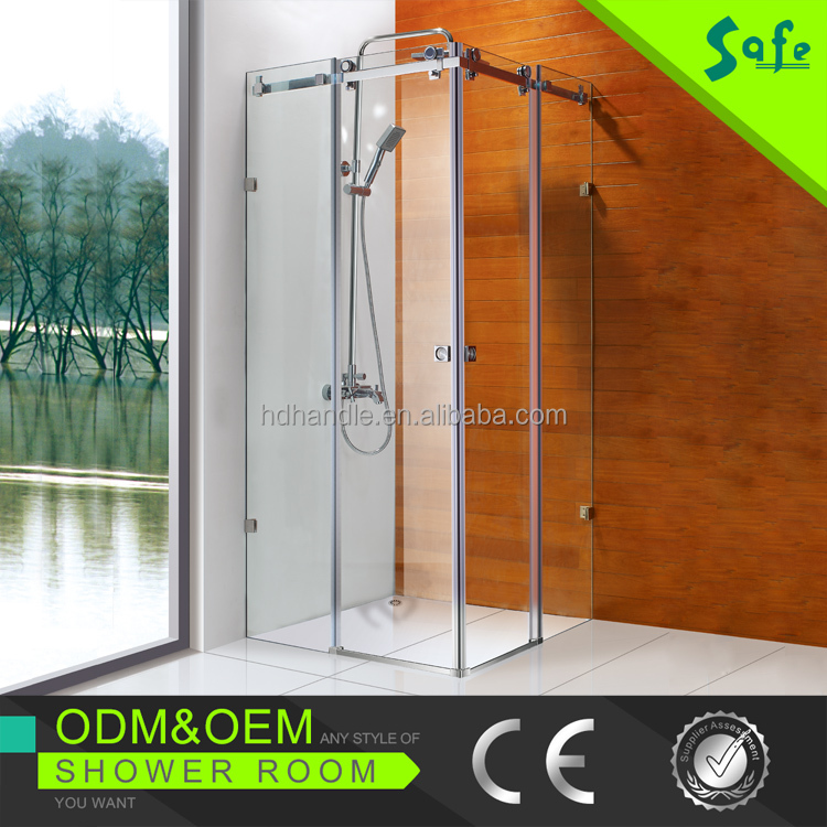 Frameless complete sliding glass enclosed shower enclosure room made in China
