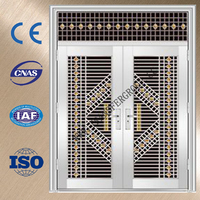 China hot sale double hung steel door with 304# stainless steel