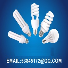 energy saving bulbs 2u 3u half spiral full 3000H 110v or 220v halogen 12mm tube diameter cfl