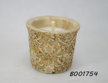 528 Wax in Baroque style cement pot candle windproof candle in garden used patio candles