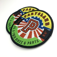 Wholesale custom design vintage woven patches for car seats