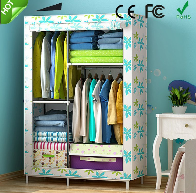 Folding wardrobe closet cabinet/ cupboard/ portable fabric wardrobe