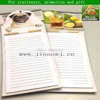 fridge magnetic sticky memo pad with pen