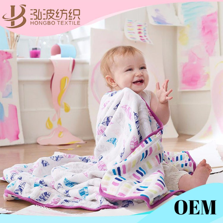4 layer guze dream blanket muslin swaddle blanket organic