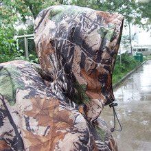 Military Hunting Camouflage Rain Poncho With Ground Sheet and Tent Purpose