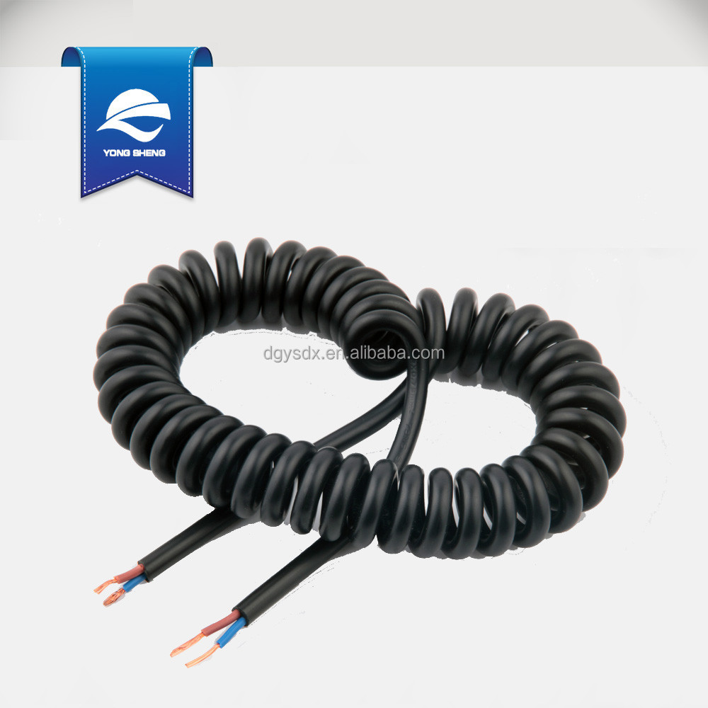 copper conductor electrical spiral wire coiled cable