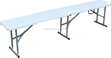 new item 3 legs 6ft not rollover blow molded Hdpe plastic outdoor folding patio bench(pass TUV test)