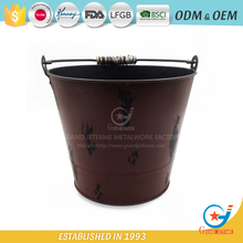 iron painting flower pot vintage garden bucket
