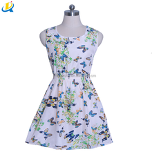 Cheap and beautiful summer chiffon beautiful lady formal one-piece dress