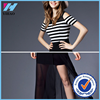 Yihao Womens Sexy Striped Summer Boho Chic Cocktail Party Beach Prom Chiffon Dress