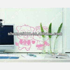 lovely bear painting combination wall stickers