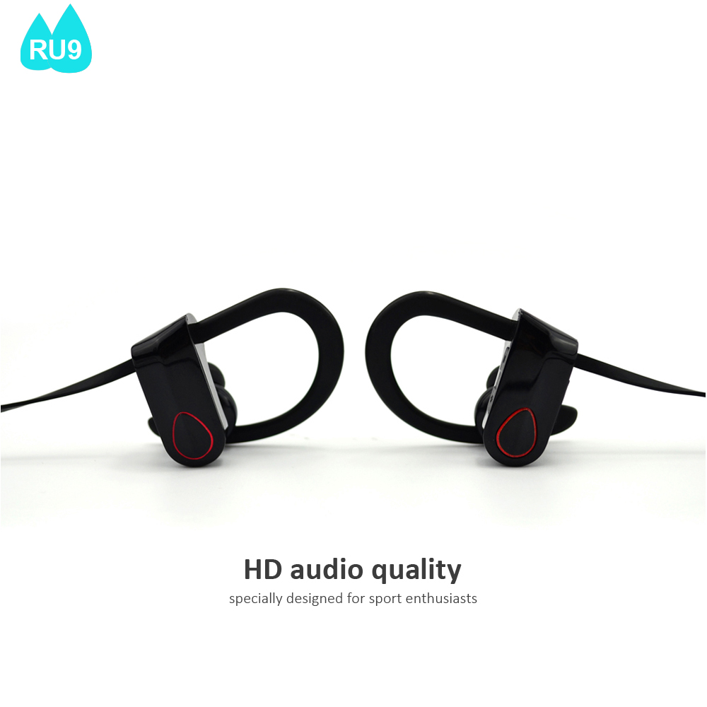 New Design Wireless Stereo Bluetooth Headset Sports Necklace fm Radio Shenzhen Bluetooth Earphone RU9