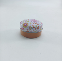 Cute Small Metal Round Empty Tin Box Lip Balm Container Cosmetics Tin Can