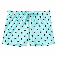 Wholesale Plus Size Women Casual Design Polka Dot Printed Jersey Sleep Shorts