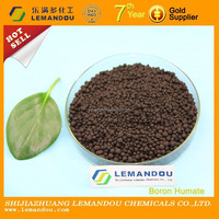 Black color boron humate granular fertilizer in China