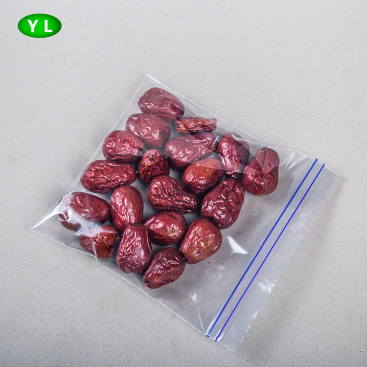 BPA free PE clear no printing food grade bag for packing dried jujube nut packaging plastic bag