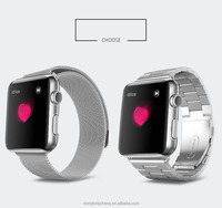 Stainless Steel Strap Classic Buckle Adapter Watch Band For Apple Watch