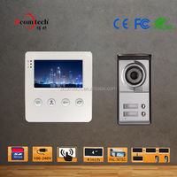 "4"" Door Bell Wired Video Door Phone System Home Security Entry 2 Way Intercom IR Camera"