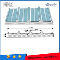 Low price PU sandwich wall panel Polyurethane wall Fire / storage room sandwich panel for home