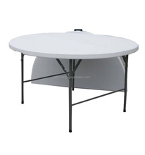 "60"" BLOW MOLDED PLASTIC 8 SEATER ROUND FOLDING TABLE"