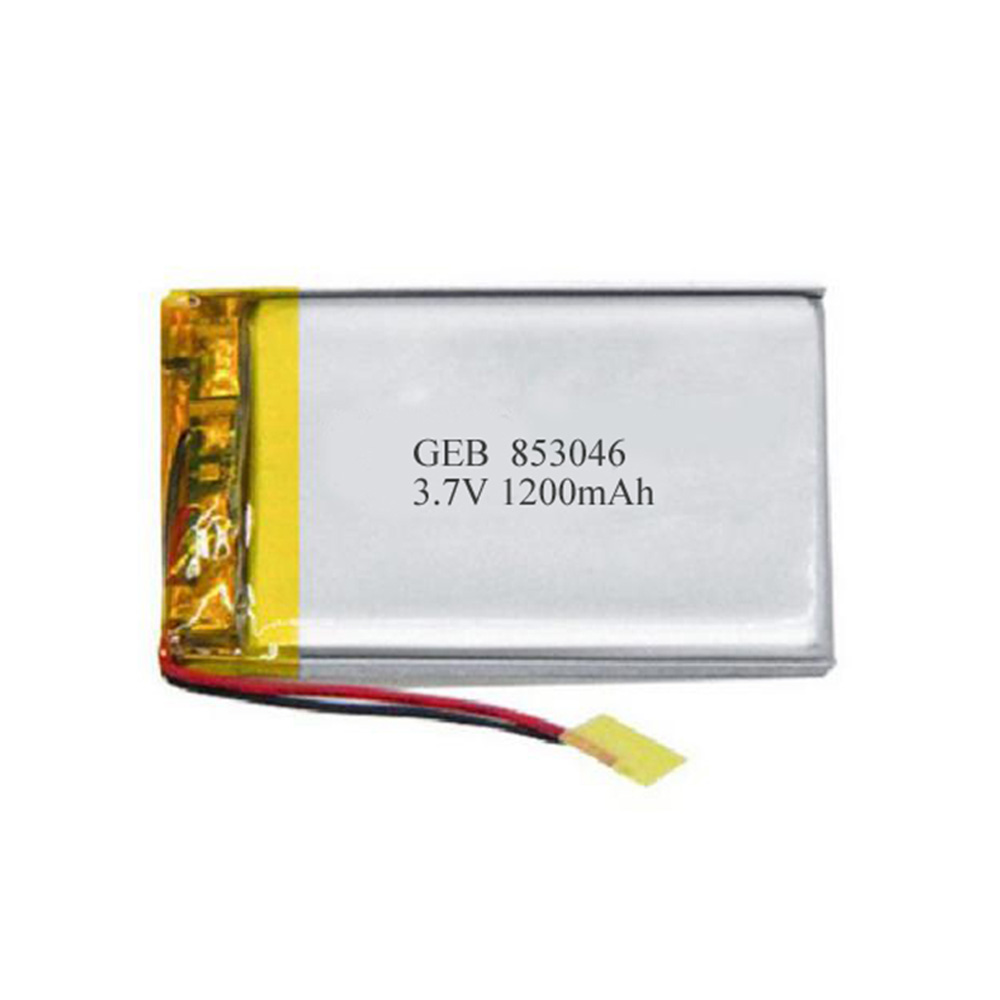 Rechargeable lipo cell 853046 3.7v 1200mah Lithium polymer battery