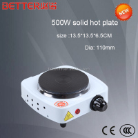 100mm cast iron 500w single hot plate electric with cheaper price