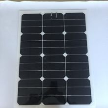 40W 18VSemi flexible monocrystalline sunpower solar panel