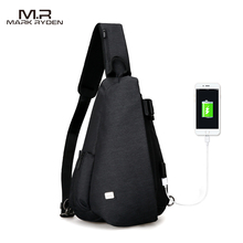 Mark Ryden New Arrival Anti Theft Sling Bag USB Backpack for Men