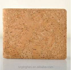 Custom cork wallet nature cork leather unisex wallet