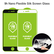 OEM Tempered Glass Film 10H 9H Nano Flexible Glass Full Screen Silk Screen Protector For iPhone 7 8 Plus