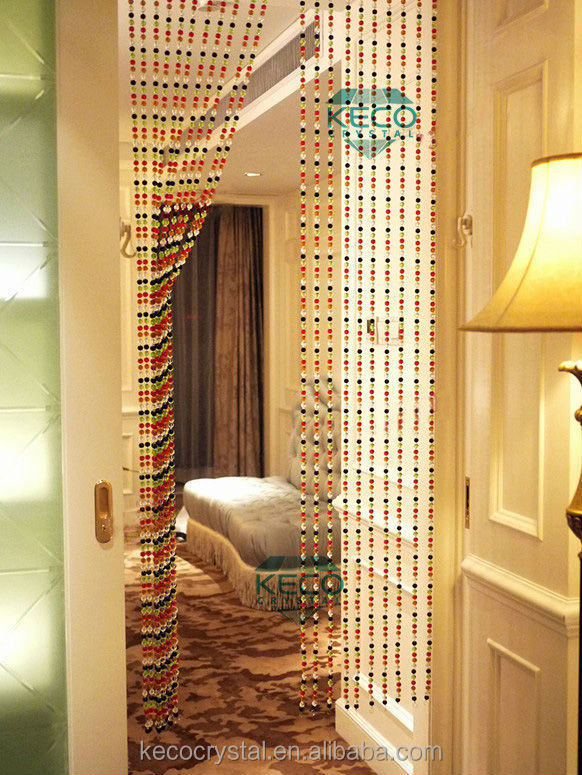 Faceted Crystal beaded door curtain
