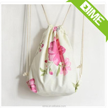 Hot sales diy cotton drawstring bag for shopping and promotion good quality fast delivery