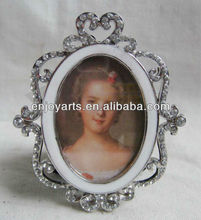 2014 Fashion crystal oval picture photo frames for wedding gifts(P0152212c)