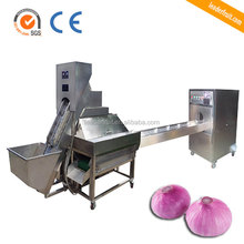 leader brand hot sale onion stripper and root cutting machine /onion peeling and root cutting machine/onion skinning and cutter
