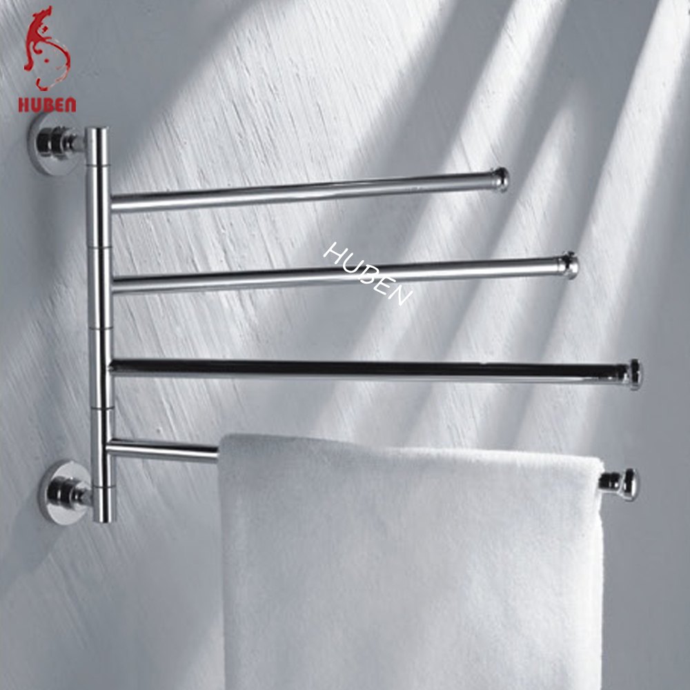 Decorative bathroom rotated extendable towel rack buy for Bathroom towel racks