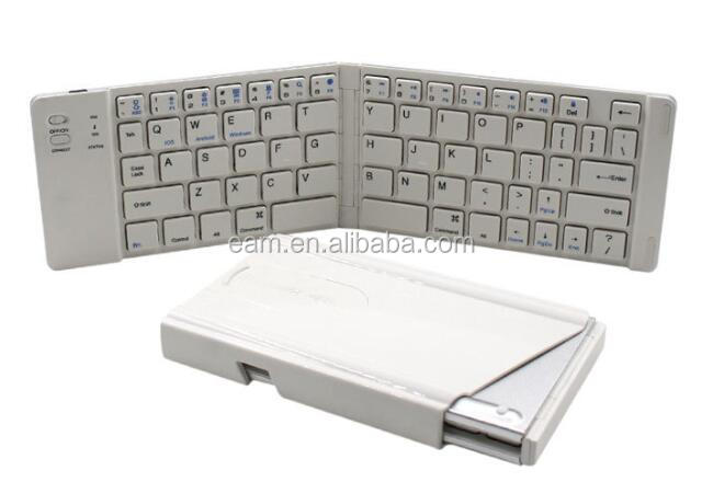 Mini Foldable Aluminum Metal Bluetooth Keyboard