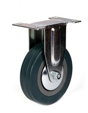 Top plate rigid caster by rubber