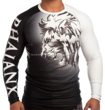 Rash Guard Lionheart White Belt / Shortsleeve MMA Rash guard / Sublimation Rush Guard