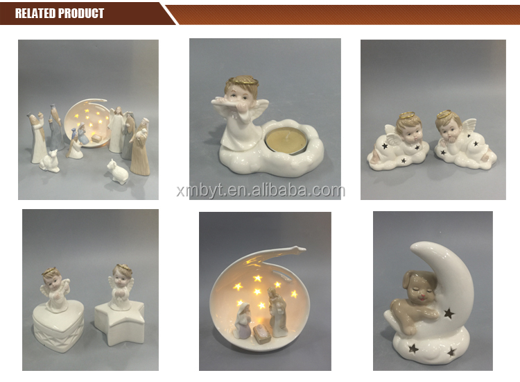 Wholesale porcelain candlestick elephant statue for gifts