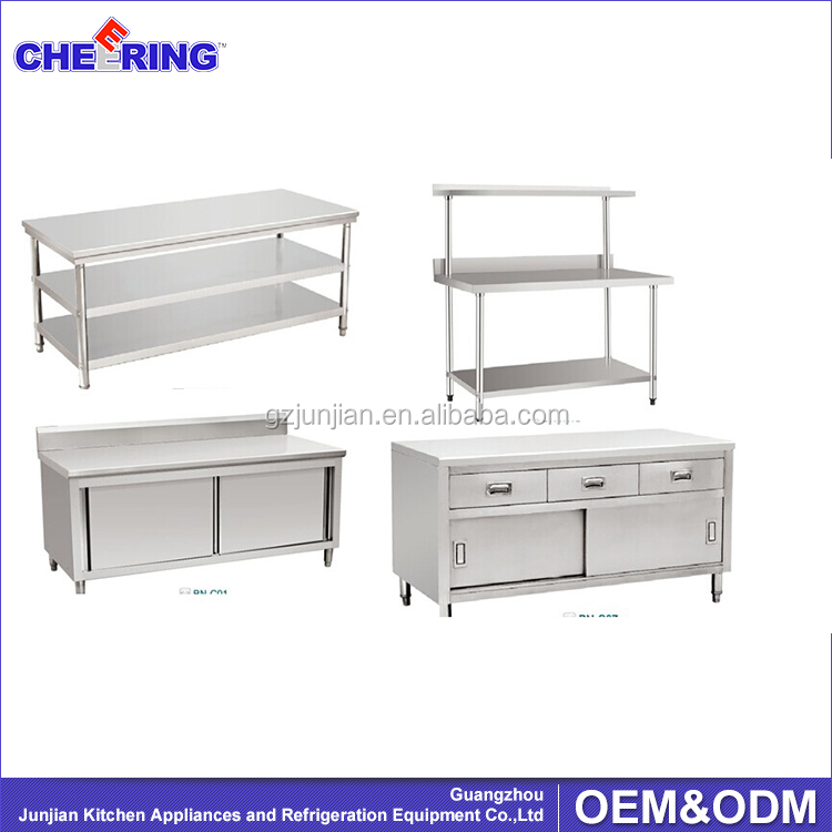 Assembling working table/commercial kitchen equipment