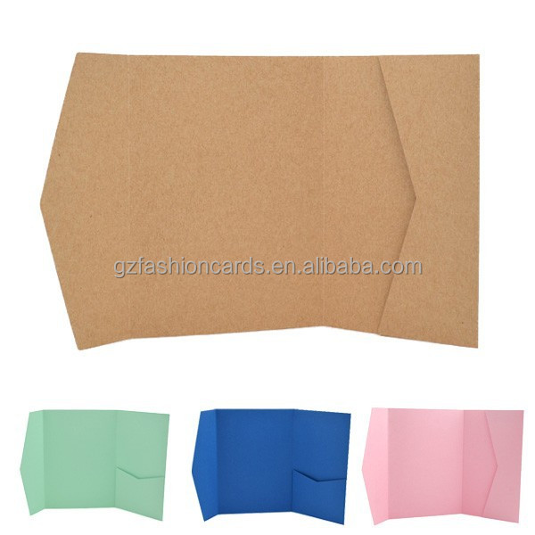 Wholesale Craft Blank Pocket Fold Invitations