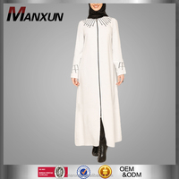 2016 new White Abaya dress Islamic Jilbab For Women dubai abaya muslim dress tudung malaysia
