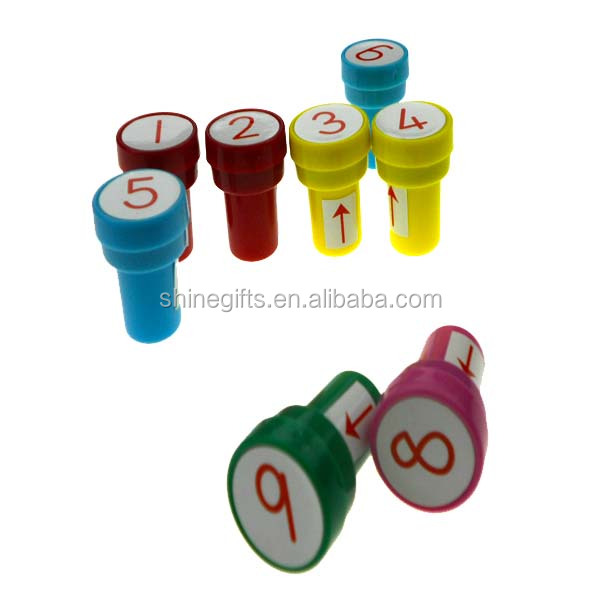 2016 promotion gift self inking concrete plastic stamp for kids
