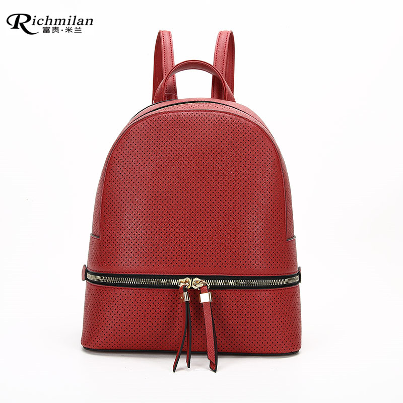 RICHMILAN---Guangdong Hanbag factory Backpack Sports Pu Leather Bag in Six Color Stock-PL496-1