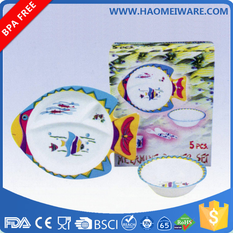 Brand new Cute Design Kids Melamine Baby Dinner Set