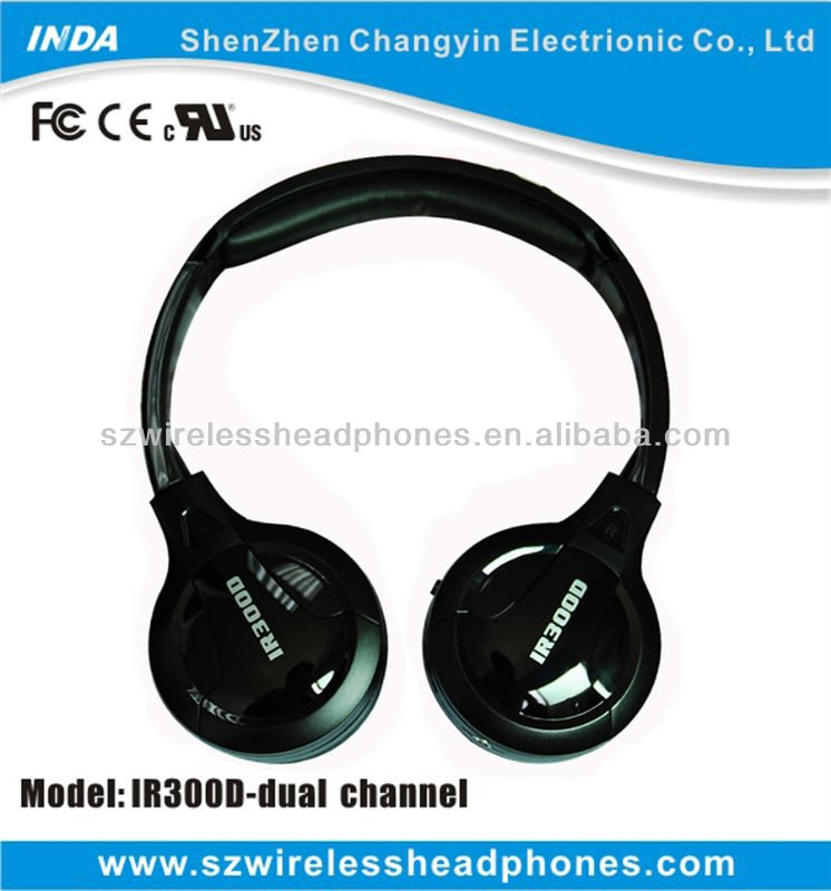 Single/Dual Channels IR Wireless Headset for Child in Car IR300D