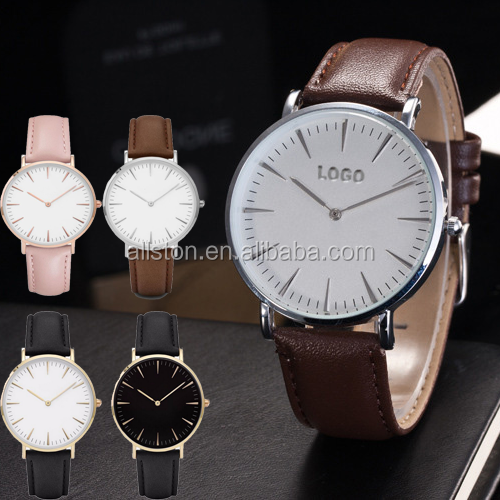 minimalist ladies watches Reasonable Price Brand Name Japan Movement Practical leather Quartz Wristwatch
