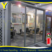 AS2047 with double glazing and German hardware aluminium sliding glass door